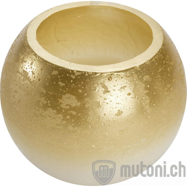 Kerze Gold Kugel 15x15