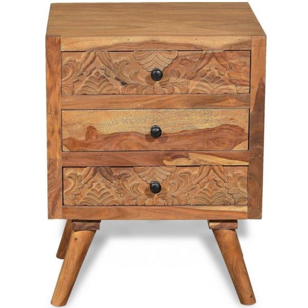 Nachtkommode Woodcraft Sheesham natur 45x35x62