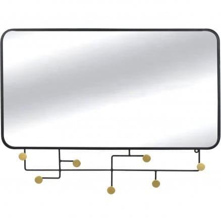 Spiegelgarderobe Korbit 62x82 schwarz
