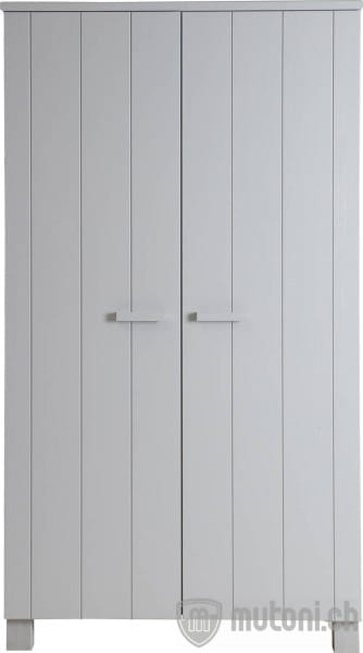 Schrank Dennis 2 Türen Kiefer betongrau (FSC)