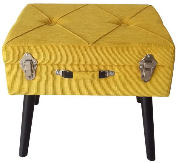 Sitzbank Cord gelb