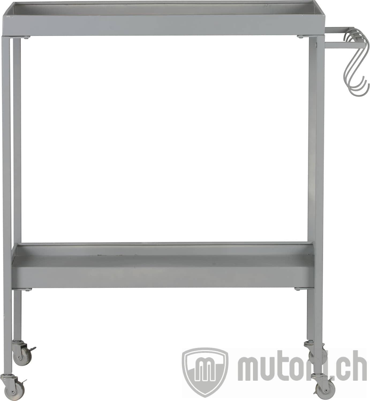 Servierwagen Stack It Low Metall Betongrau Servierwagen