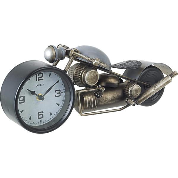 Tischuhr Charles Motorrad silber