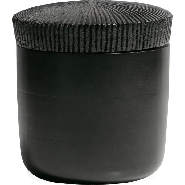 Deko-Aufbewahrungbehälter Jar Holz schwarz 16xØ15