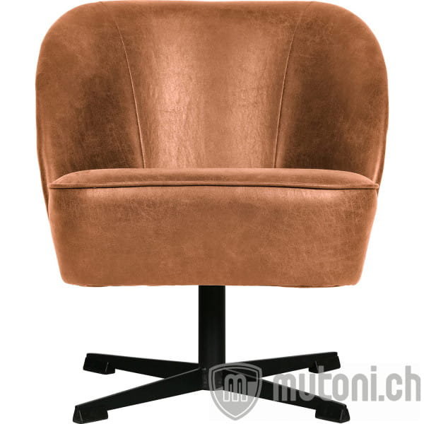 Drehsessel Vogue Recycling Leder cognac