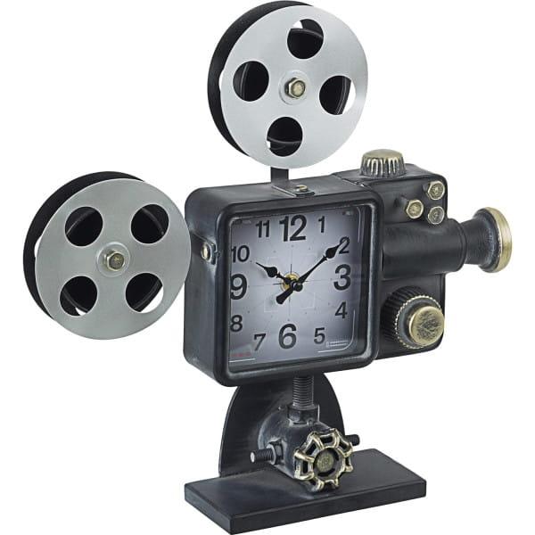 Tischuhr Charles Cinema schwarz