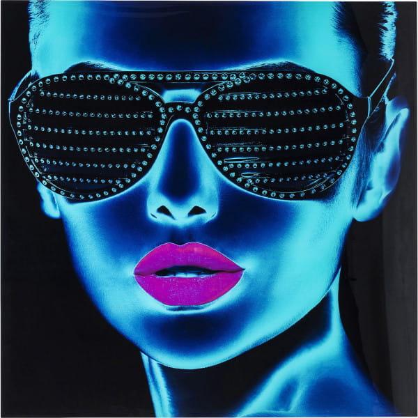 Bild Glas Tough Girl 120x120cm