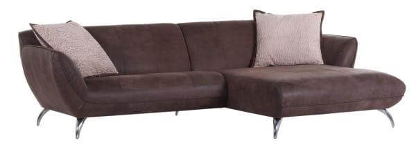 Sofa Liverpool Ottomane rechts 280x170 braun