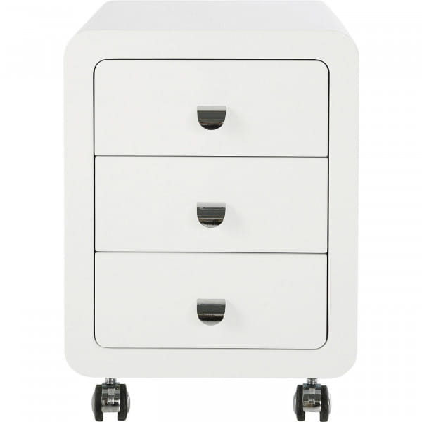 White Club Rollcontainer 3-Schub