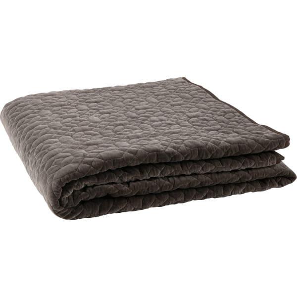 Tagesdecke Geometric Plaid Washed Velvet Warmen Grau 220x220
