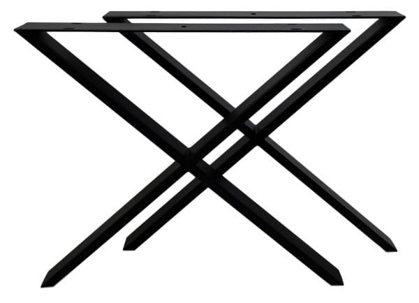 Tischgestell X-Modell Metall schwarz (2er-Set)