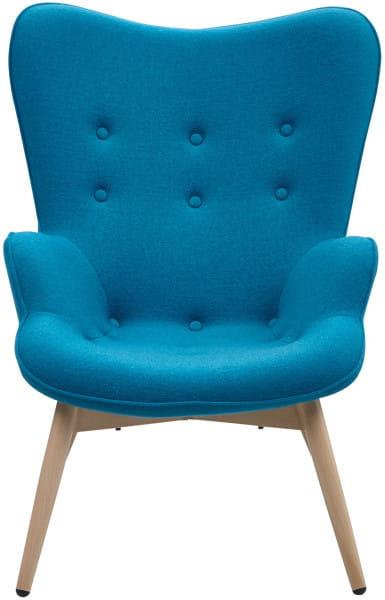 Sessel blau Webstoff
