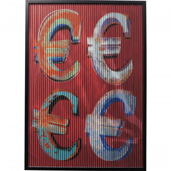 Bild Frame Art 3D Euro 118x83cm