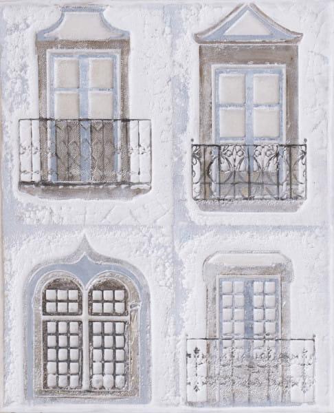 Wandbild Fenster handgefertigt 60x50