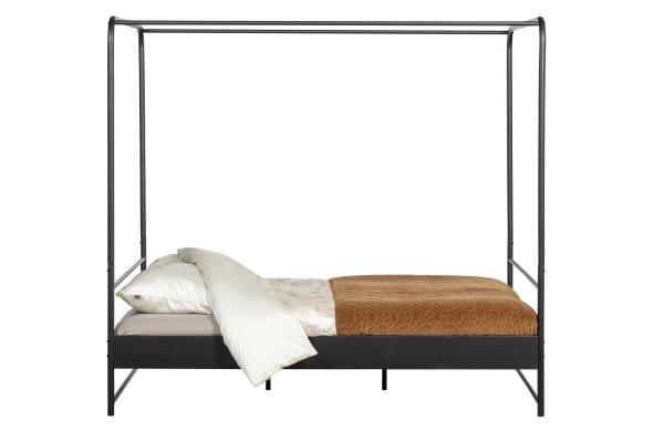 Himmelbett Bunk Metall schwarz 160x200