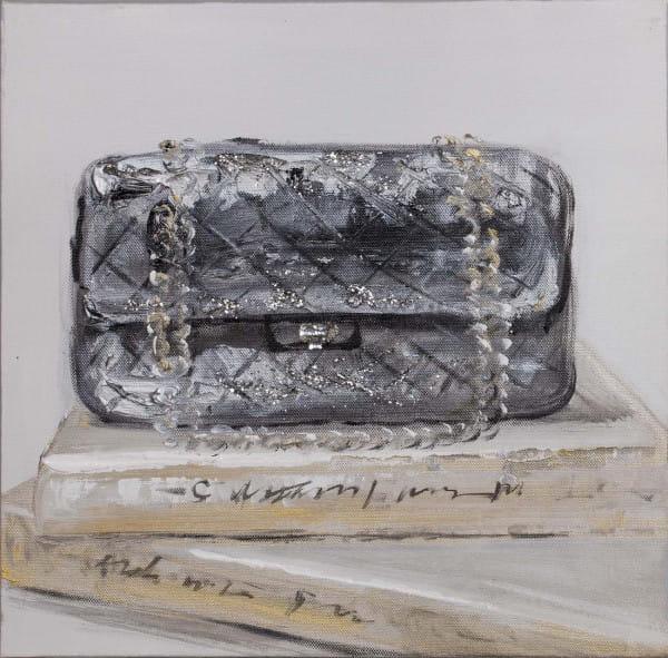 Wandbild Handtasche handgemalt 30x30