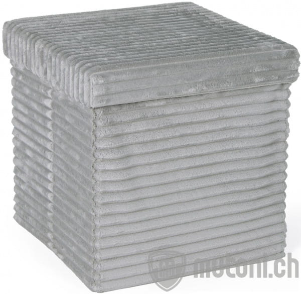 Aufbewahrungs Hocker Sedona grau